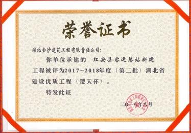 2017-2018楚天杯奖